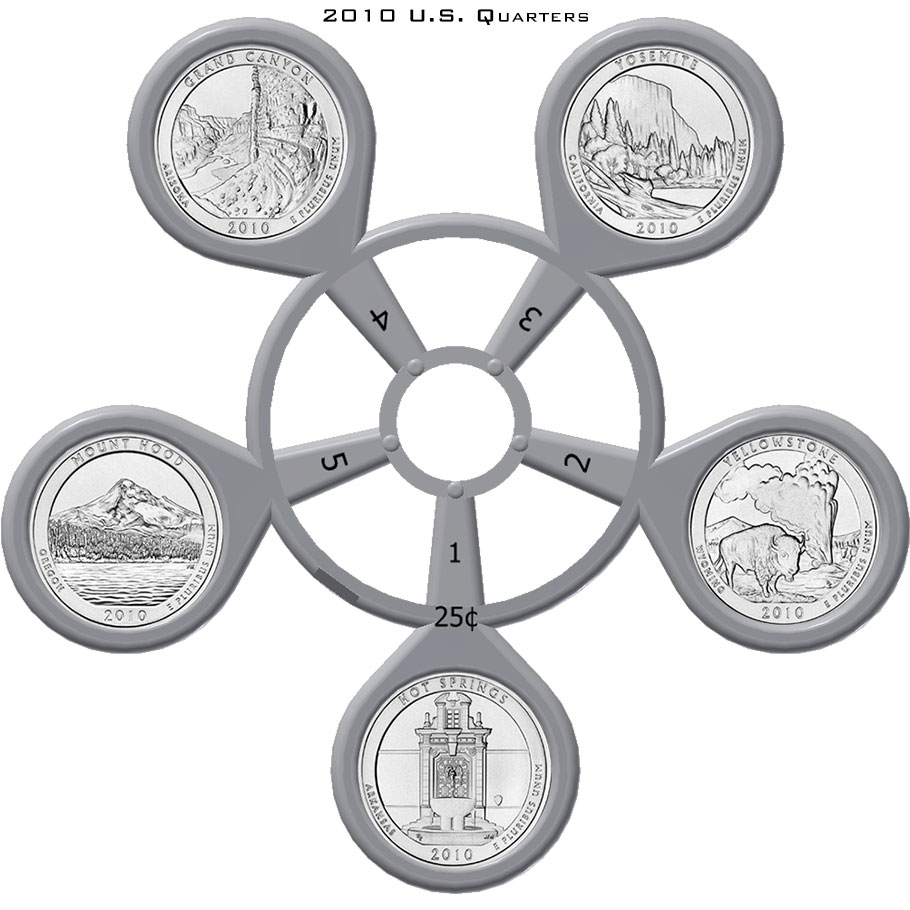 2010 America The Beautiful Quarter Coin Carousel