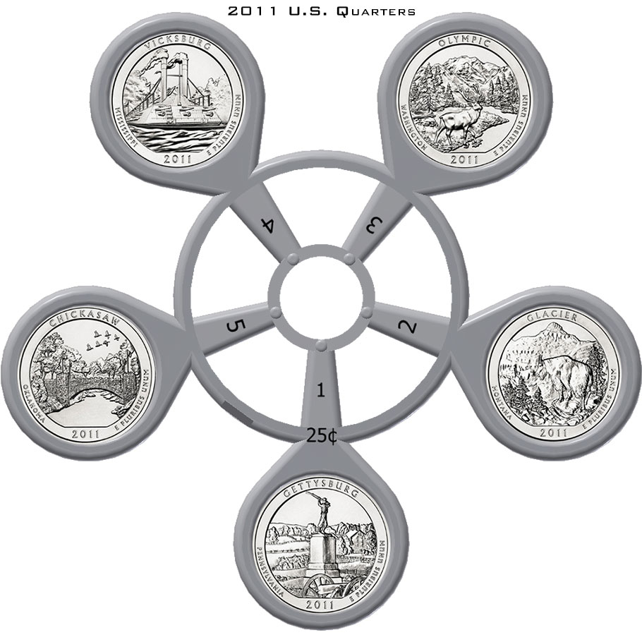 2011 America The Beautiful Quarter Coin Carousel