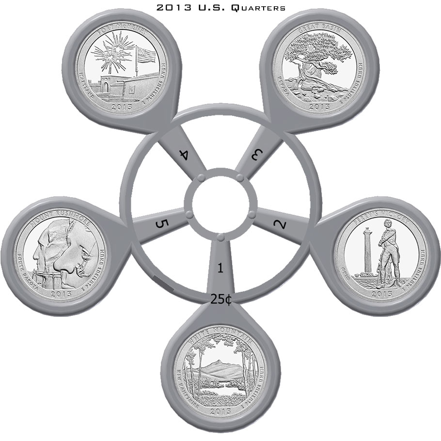 2013 America The Beautiful Quarter Coin Carousel