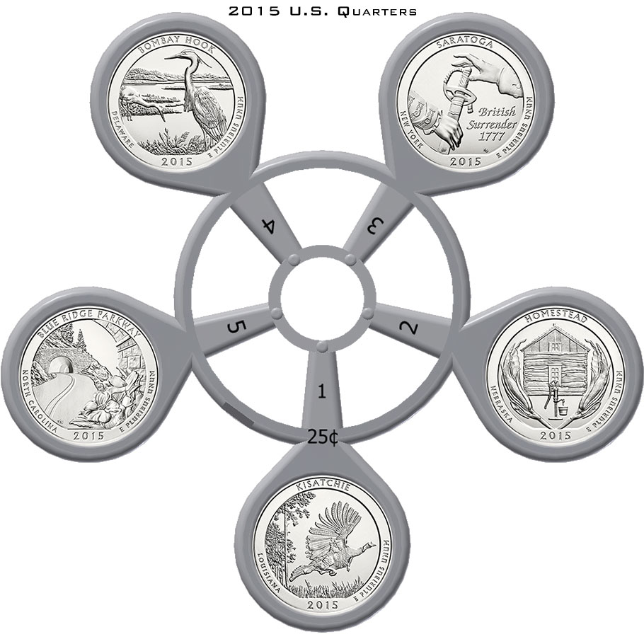 2015 America The Beautiful Quarter Coin Carousel