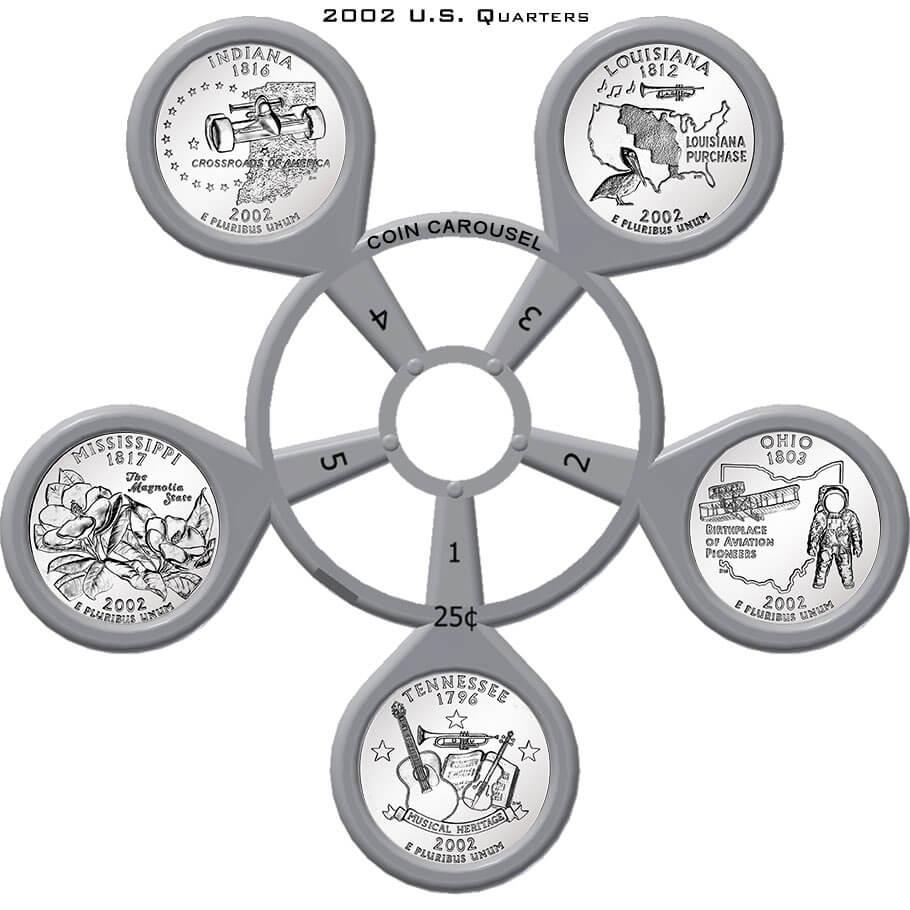 2002 State Quarter Coin Carousel
