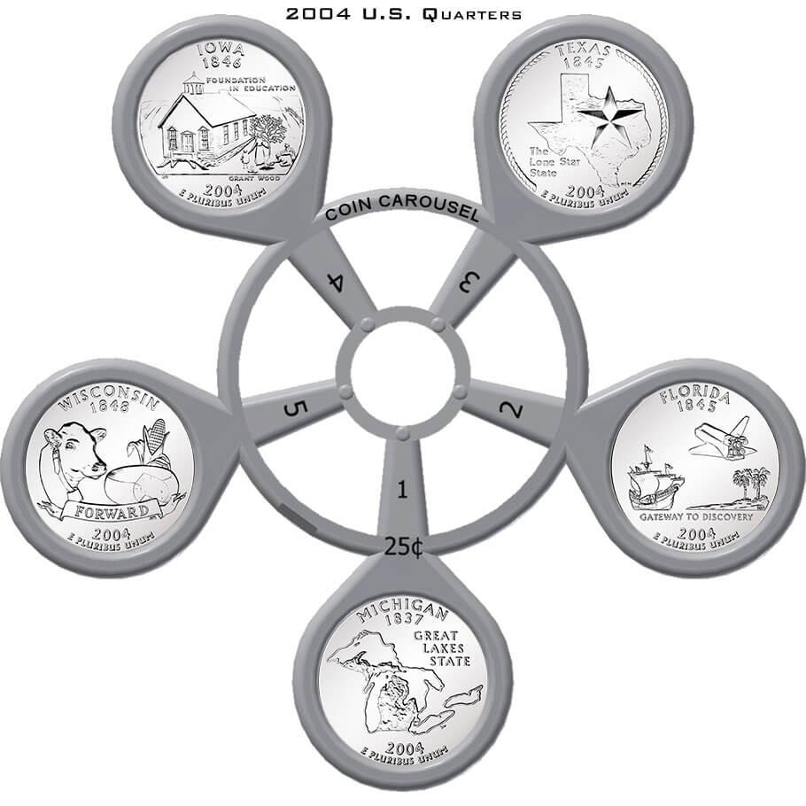 2004 50 State Quarter Coin Carousel