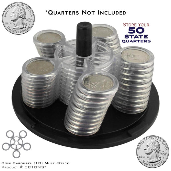 CoinCarousel_Product #CC10MS with Quarters