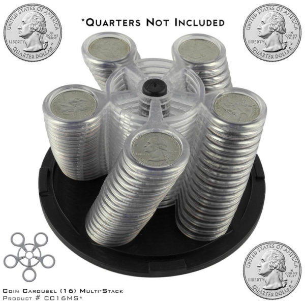 Coin Carousel_Product #CC16MS with Quarters