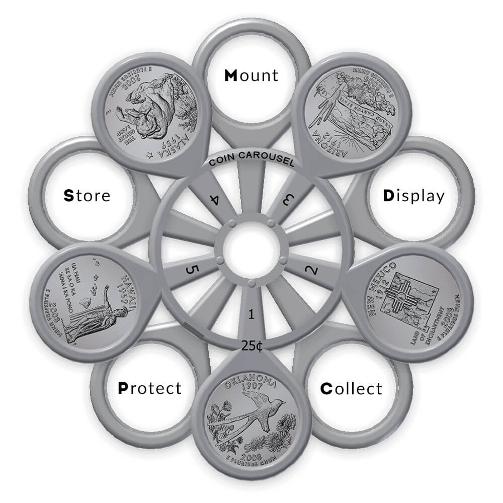 Coin Carousel_Mount Display Collect Protect Store