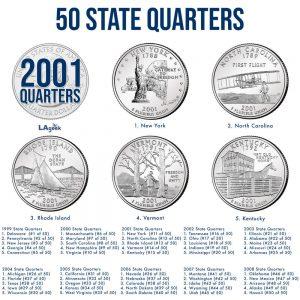 2001 50 State Quarters