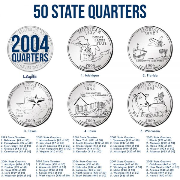 2004 50 State Quarters