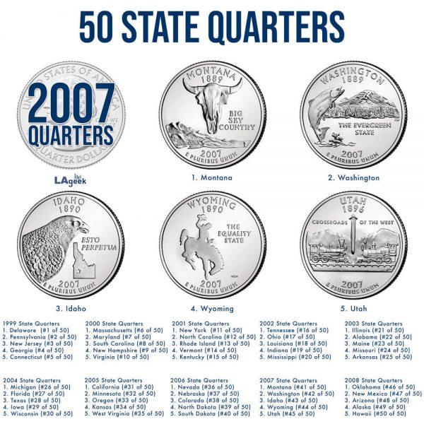 2007 50 State Quarters
