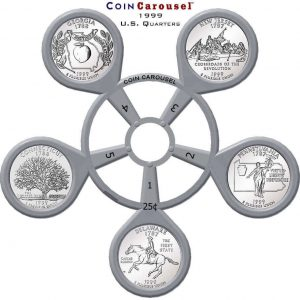 1999 State Quarter Coin Carousel