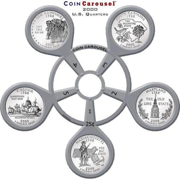 2000 50 State Quarter Coin Carousel