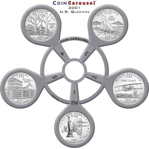 2001 State Quarter Coin Carousel