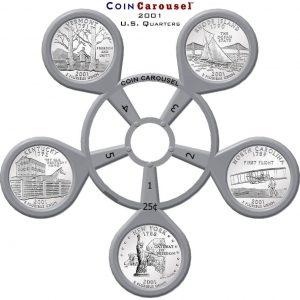 2001 State Quarter Coin Carousel