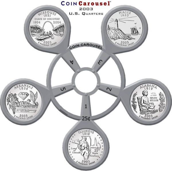 2003 State Quarter Coin Carousel