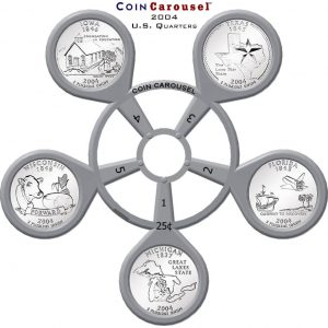 2004 50 State Quarter Coin Carousel