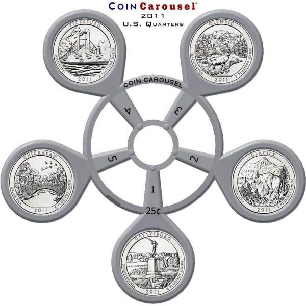 2011 America the Beautiful Quarter Coin Carousel
