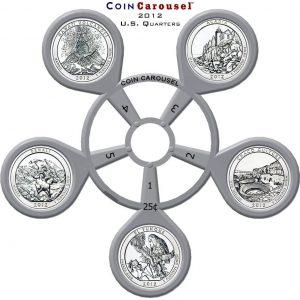2012 America The Beautiful Quarter Coin Carousel