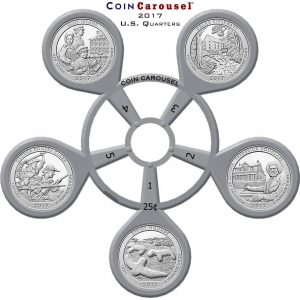 2017 America The Beautiful Quarter Coin Carousel