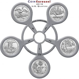 2018 America The Beautiful Quarter Coin Carousel